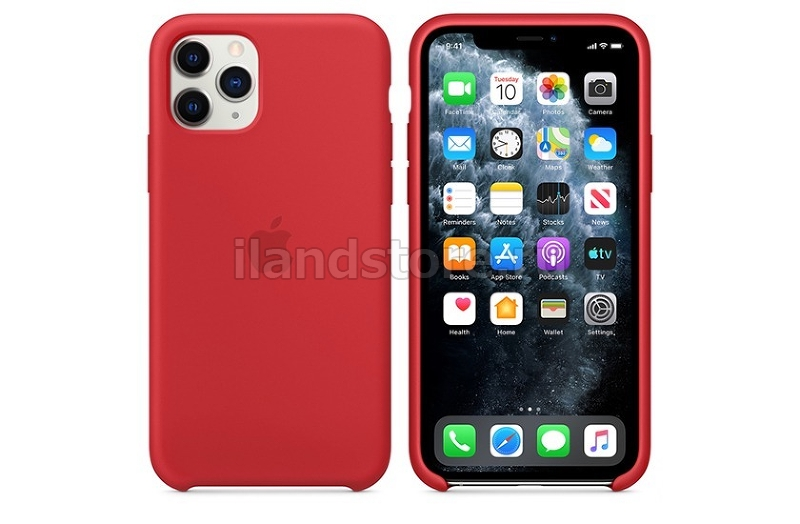 Apple Silicone Case для iPhone 11 Pro (Red)