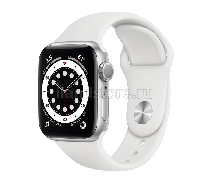 Apple Watch S6 Sport 44mm GPS Silver Al/White Sport Band