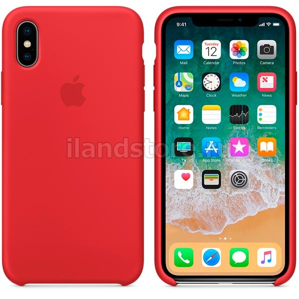 Apple iPhone X Silicone Case RED (MQT52ZM/A)