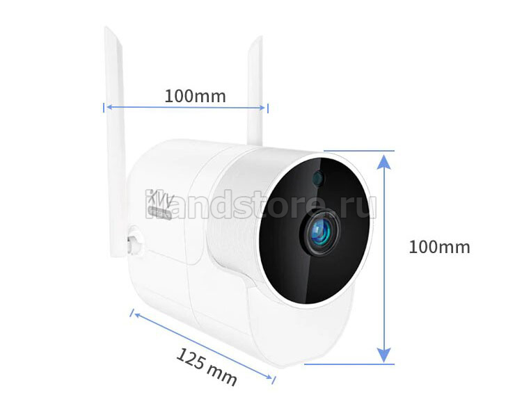 Видеокамера Xiaovv Outdoor Panoramic Camera White V380