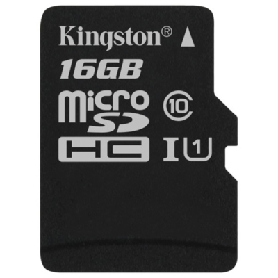 Карта памяти Kingston (microSDHC) 16Gb class UHS-l (10+) SDC10G2/16GBSP