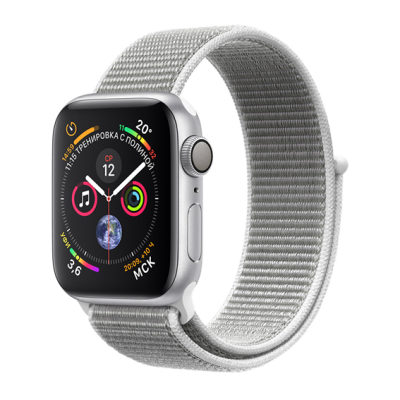 Apple Watch S4 Sport 40mm GPS SilverAl/Seashell Sport Loop (MU652)