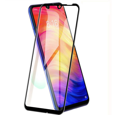 Закаленное стекло Full Cover+Full Glue Vespa Xiaomi Redmi Note 8 Pro Черная рамка