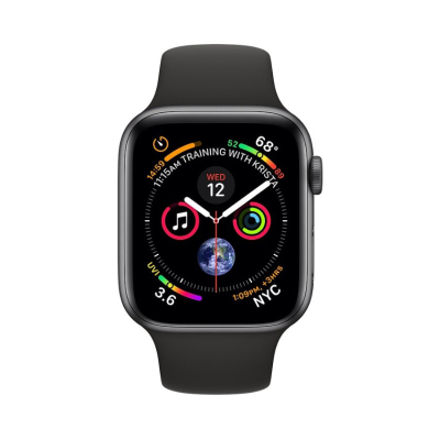 Apple Watch S4 Sport 40mm GPS SpaceGray Al/Black Sport Band (MU662)