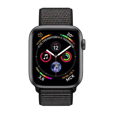 Apple Watch S4 Sport 44mm GPS SpaceGray Al/Black Sport Loop (MU6E2)