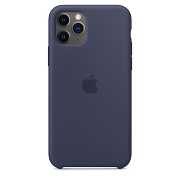 Apple Silicone Case для iPhone 11 Pro Max (Midnight Blue)