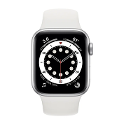 Apple Watch S6 Sport 40mm GPS Silver Al/White Sport Band