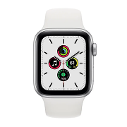 Apple Watch SE Sport 44mm GPS Silver Al/White Sport Band