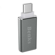 Переходник Benks Type-C to USB 3.0 (Silver)(U36)