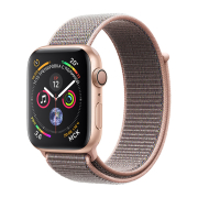 Apple Watch S4 Sport 44mm GPS Gold Al/Pink Sand Sport Loop (MU6G2)