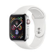 Apple Watch S4 Sport 44mm GPS Silver Al/White Sport Band (MU6A2)