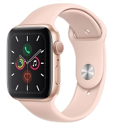 Apple Watch S5 Sport 44mm GPS Gold Al/Pink Sand Sport Band